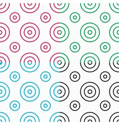 white patterns with circles vector image