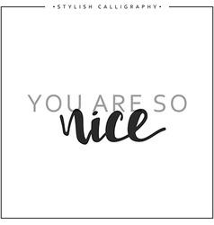 You are so nice phrase in handmade vector