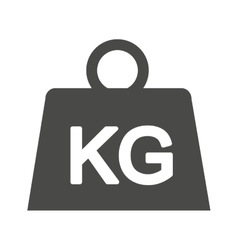 Weight kilogram isolated icon vector