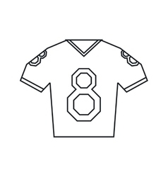 Jersey american football tshirt uniform outline vector