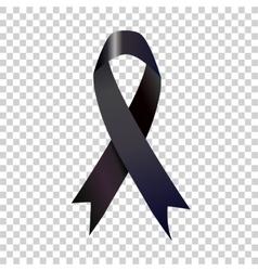 Stock black awareness ribbon vector image