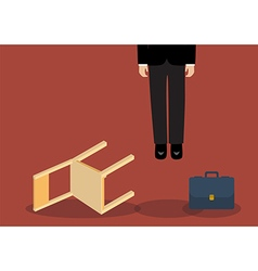 Situation of hanged businessman vector