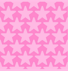 Pink seamless background with stars vector