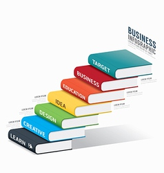 Book info graphic template business success vector