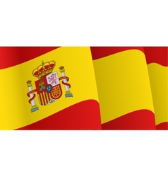 Background with waving spanish flag vector