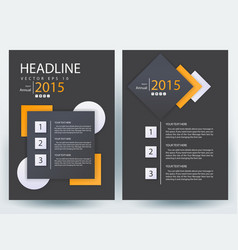 Abstract modern flyers brochure annual report vector