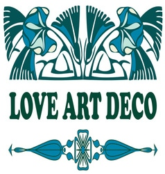 Love art deco vector