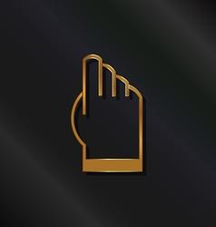Gold touchscreen hand logo vector image