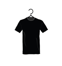 T-shirt black vector