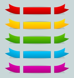 Colorful ribbons vector image
