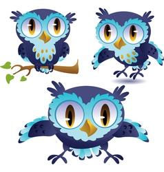 Set of owls vector image