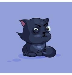 Black cat squints vector