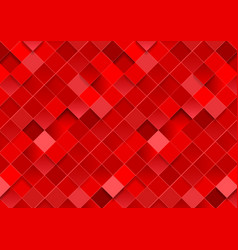 Bright red geometric squares mosaic abstract vector