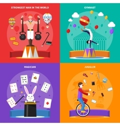 Circus concept icons set vector