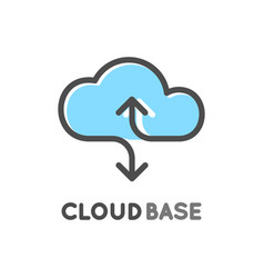 cloud database logo isolated logotype of data vector image