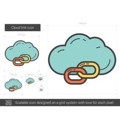 Cloud link line icon vector image vector image