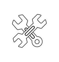 construction tools symbol vector image vector image