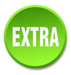 Extra green round flat isolated push button vector