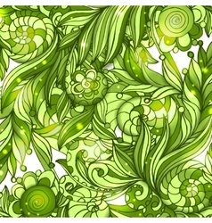 Fairy hand drawn green doodle ornament vector image vector image
