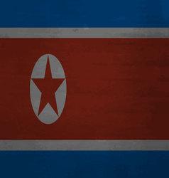 Flag of North Korea messy vector image