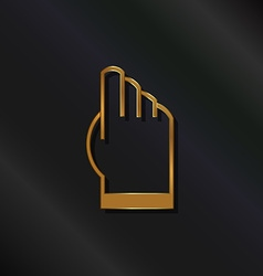 Gold touchscreen hand logo vector image
