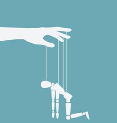 hand with broken puppet vector image