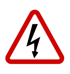 High voltage sign danger symbol vector