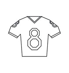 jersey american football tshirt uniform outline vector image
