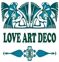 Love art deco vector