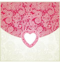 ornate valentine ornamental pattern vector image