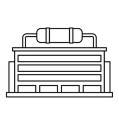 Power station icon outline style vector