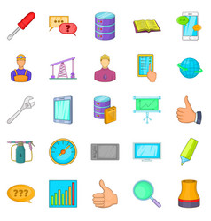Projection icons set cartoon style vector