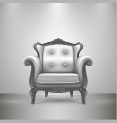 retro chair gray vector image vector image