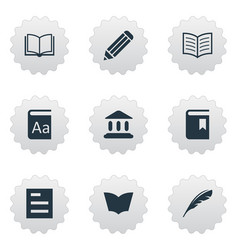 set of simple knowledge icons vector image vector image