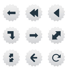 Set of simple pointer icons vector