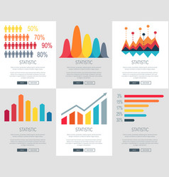 statistic set of web page designs vector image