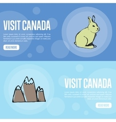 Visit Canada Touristic Web Banners vector image