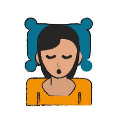 woman sleeping cartoon vector image vector image