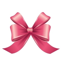 Ribbon bow pink vector