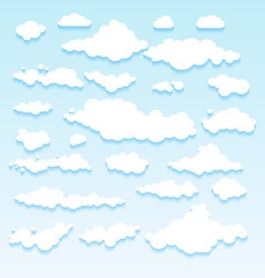 Blue sky with clouds nature vector
