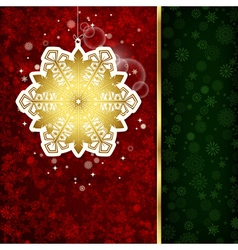 Christmas decoration and snowflakes vector image