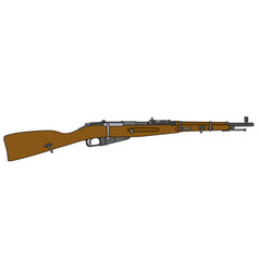 Old short military rifle vector