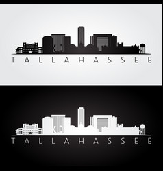 Tallahassee usa skyline and landmarks silhouette vector