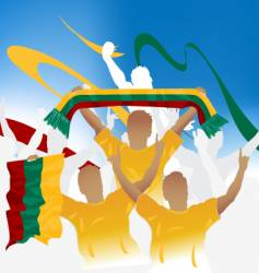 Lithuania crowd vector