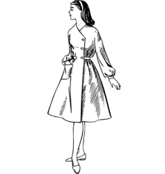 Image of the woman vector