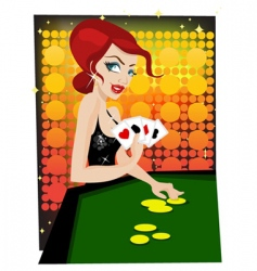 Casino girl vector