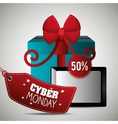 Cybermonday shopping season vector