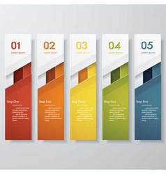 Design clean number banners template vector