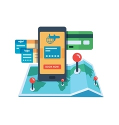 Booking travel online concept vector