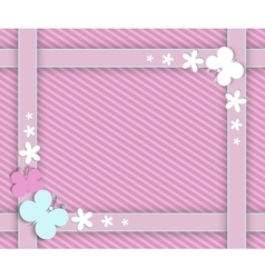 pink frame for girls vector image